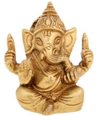 Kapasi Handicrafts Gold Plated Lord Ganesha Idol