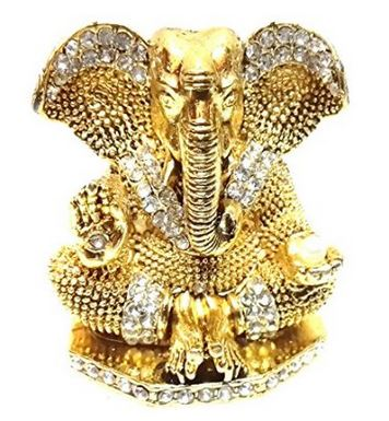 Ratna Handicrafts Exclusive Diamond Stone Studded Ganesh Idol