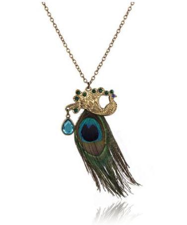 peacock feather locket