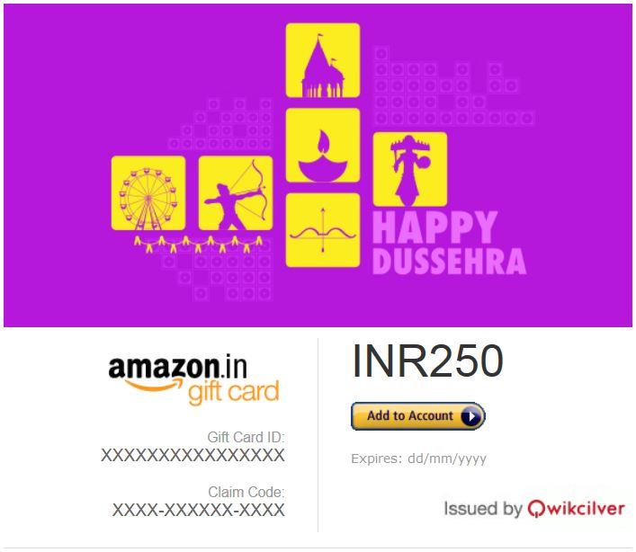 Dussehra festival Gift Card