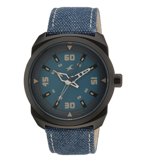 Blue dial watch for his birthday