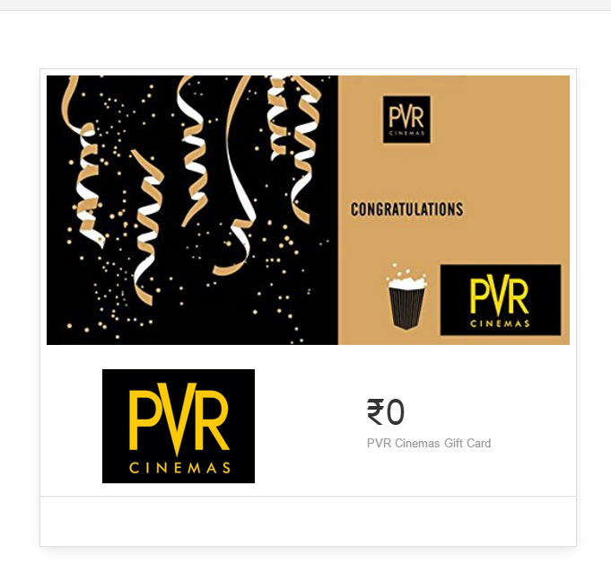 PVR gift card