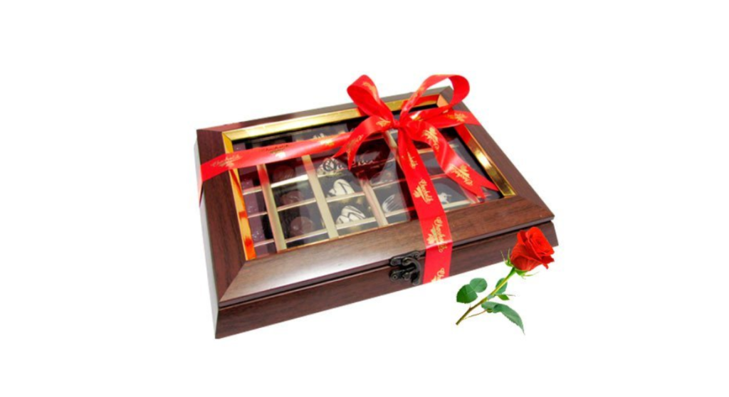 valentines day chocolate box