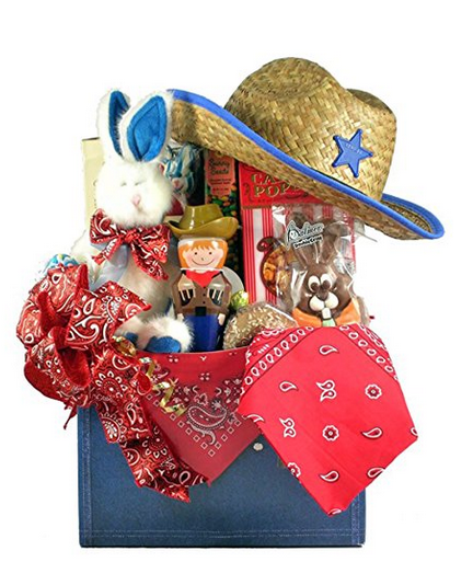 Cowboy themed basket easter gift