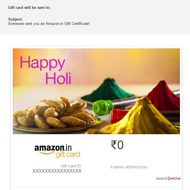 amazon gift card holi ideas