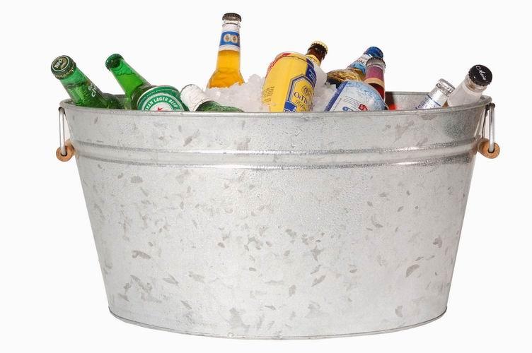 A bucket of booze