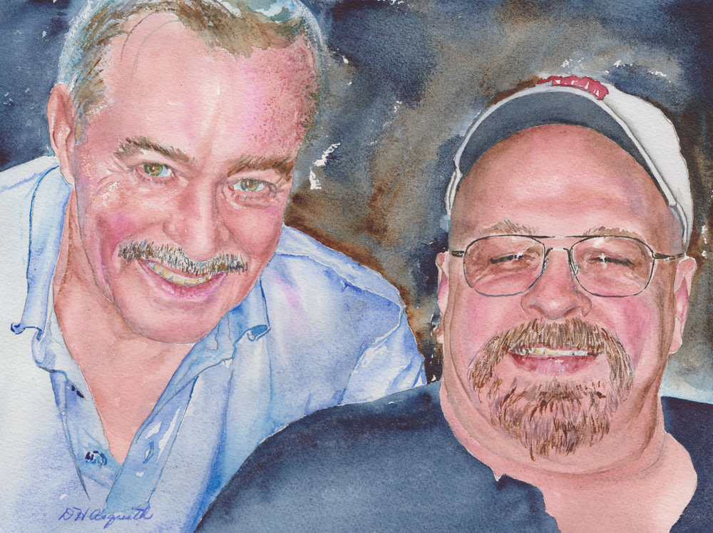 Donna's+painting+of+-Dad+and+Danny-