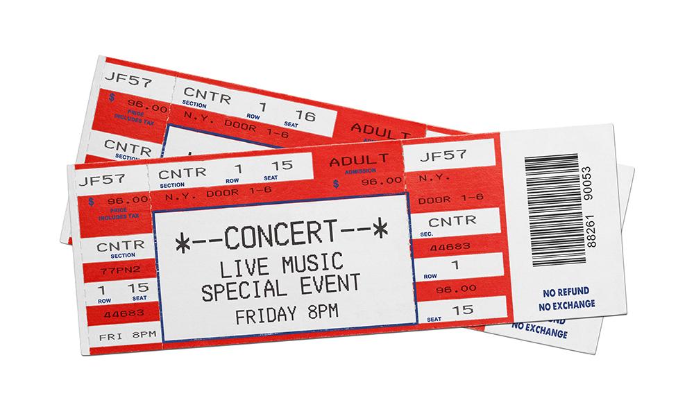 Concert Performance Tickets best friend birthday gift