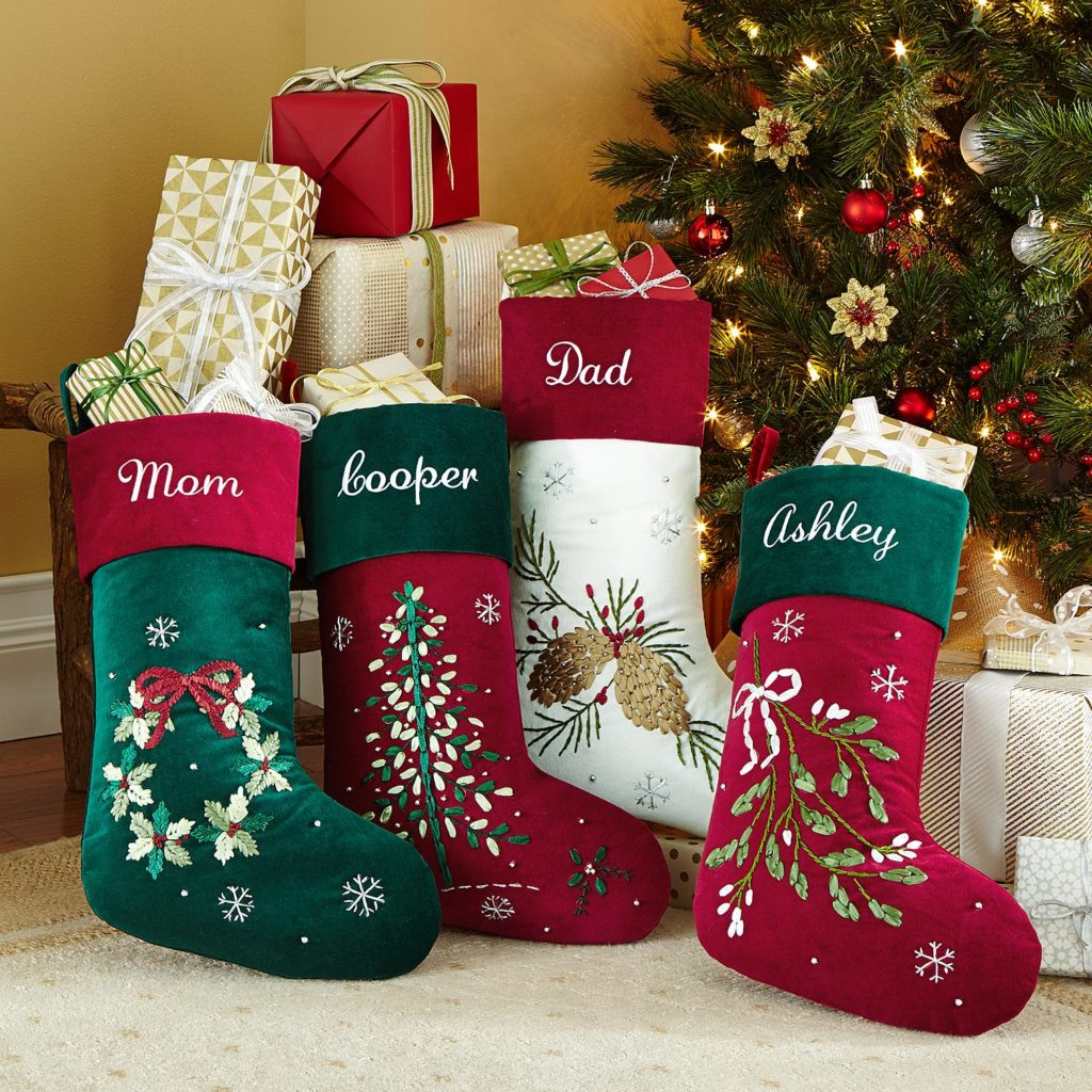 Elegant Personalized Christmas Stockings