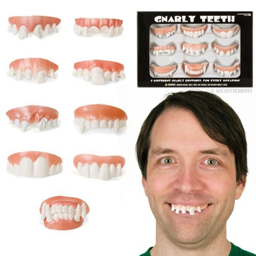 Accouterments gnarly teeth set of 9