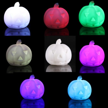 Color-changing LED Pumpkin night lamp