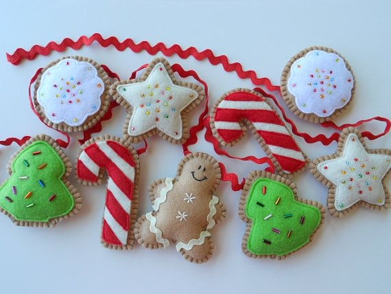 Decorate using cookie garland