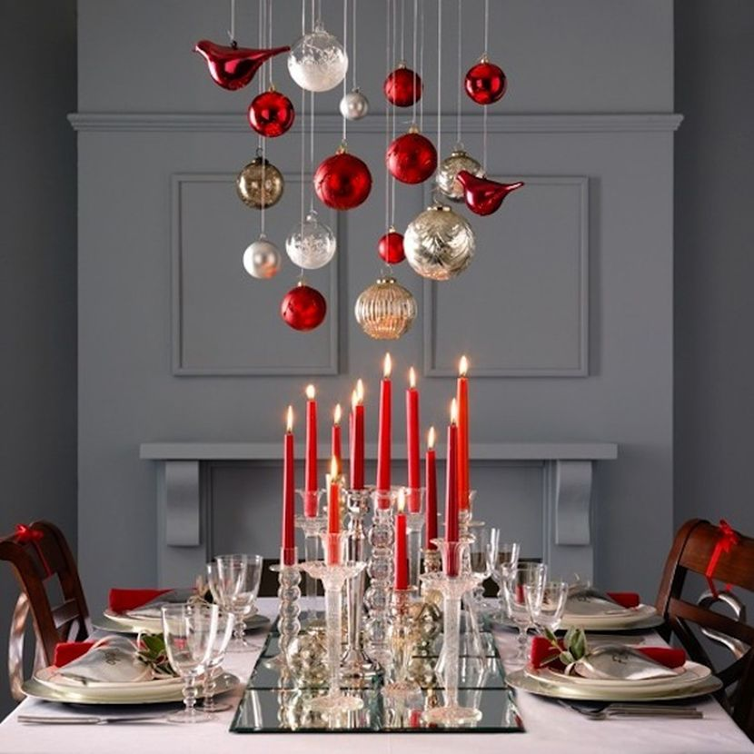Decorate your tables will baubles