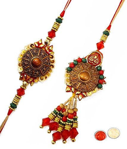 Fascinating Bhaiya Bhabhi Rakhi Set