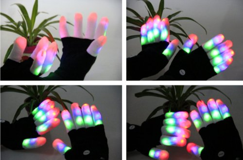 Finger lighting gloves
