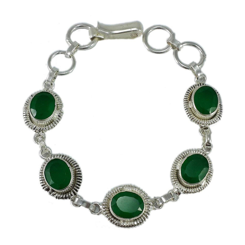 Green color glass stone designer bracelet