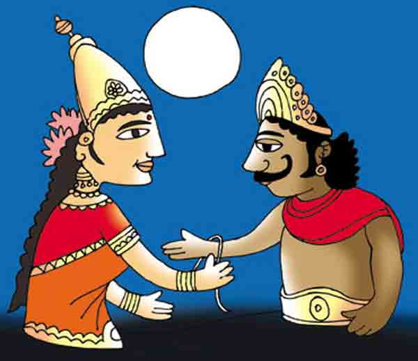 King bali and lakshmi