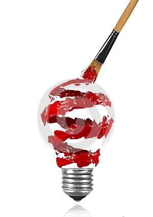 Painting unused bulbs