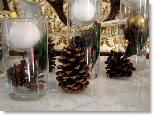 Pine cones to decorate Kitchen