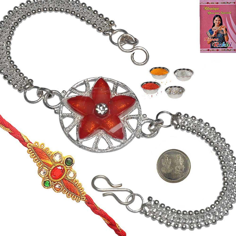 Red rakhi combo