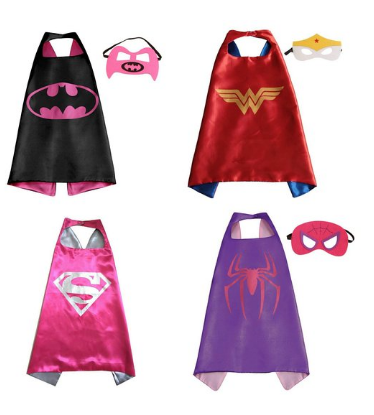 Superhero girl cape and mask