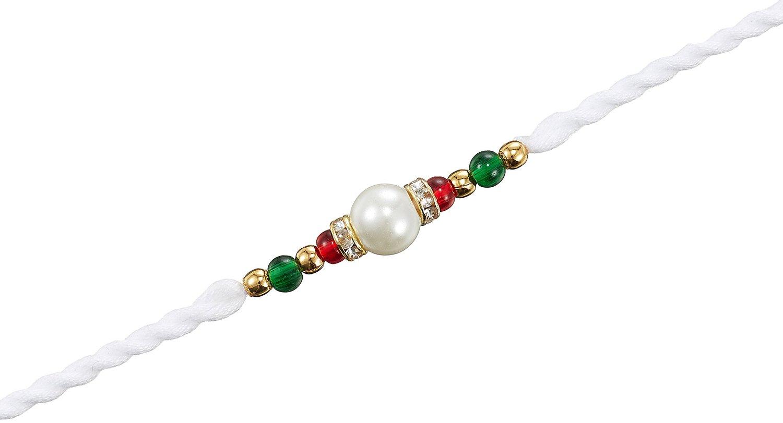 Surat Diamond pearl and colored stone rakhi