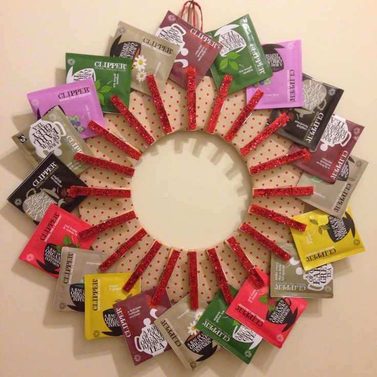 Tea bag wreath