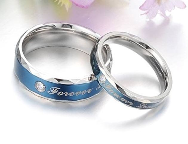 Titanium Love Rings
