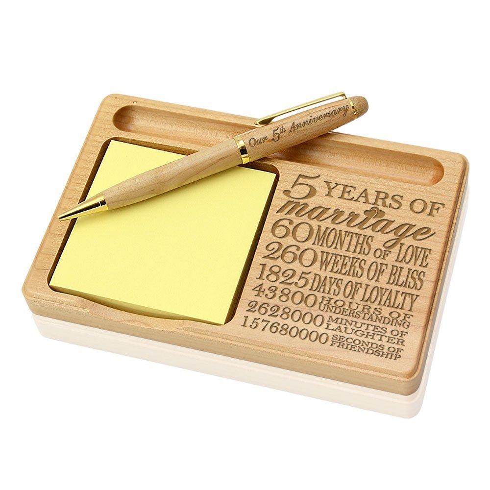 Wooden Notepad pen holder