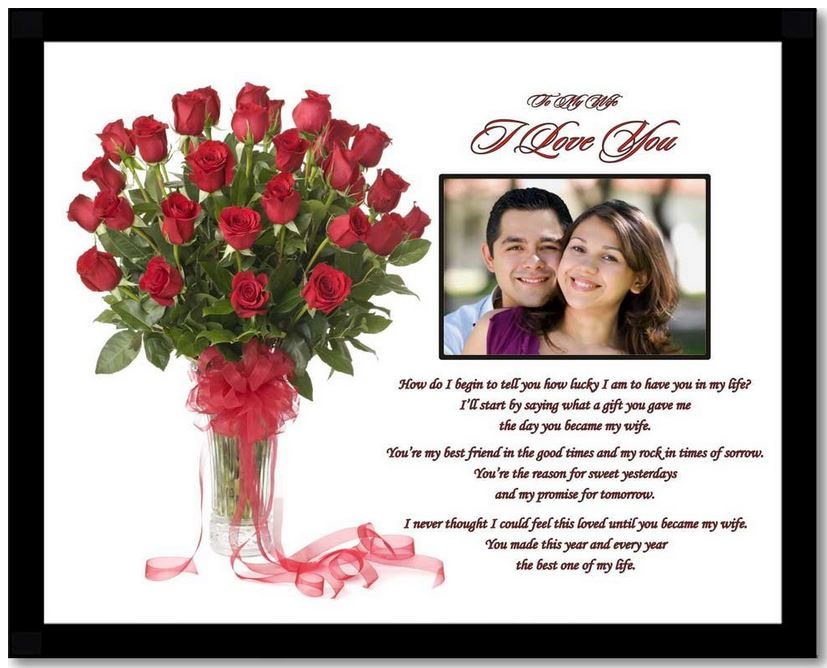 Good Presents For Wife Part - 37: This Would Be One Of The Most Romantic Birthday Gifts For Wife. Find A  Picture (photo) Frame That Includes A Romantic And Touchy Poem (of Course  Addressed ...