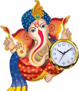 Ganesh Chaturthi Watch Clock