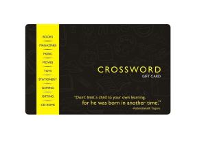 crossword gift card