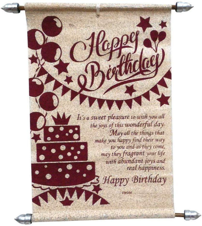 Happy Birthday Scroll Card