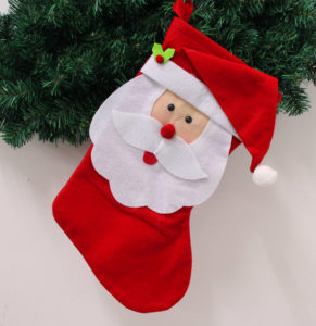 santa cap stockings
