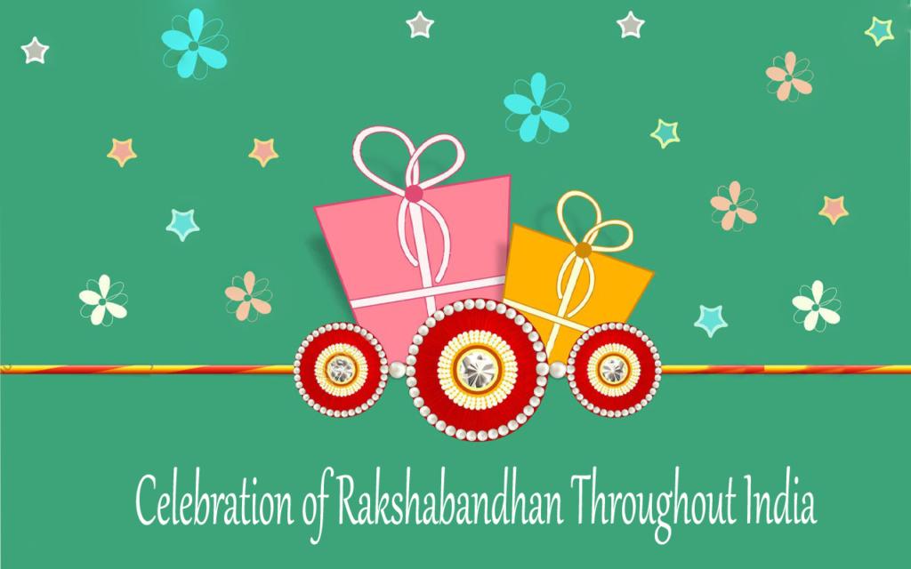 Celebration of rakshabandhan throughout India