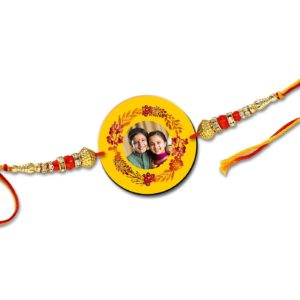 How about adding your's or your brother's photo on rakhi