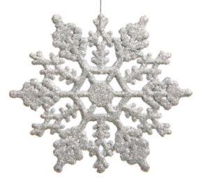 Plastic glitter snowflake