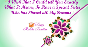 Rakshabandhan- the prayer of a sister to protect her brother
