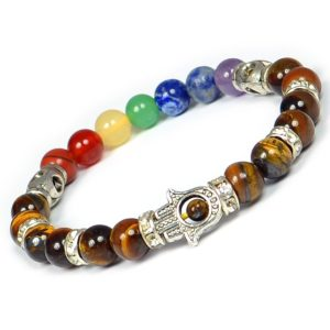 bracelet with color glass stone