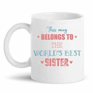 Customized coffee mug for sister
