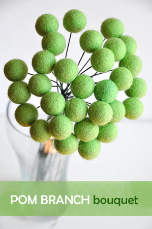 Pom branch bouquet