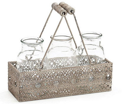 Candle holder basket
