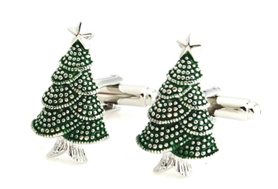 Pine tree cufflinks