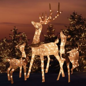 Reindeer Family outdoor decoration