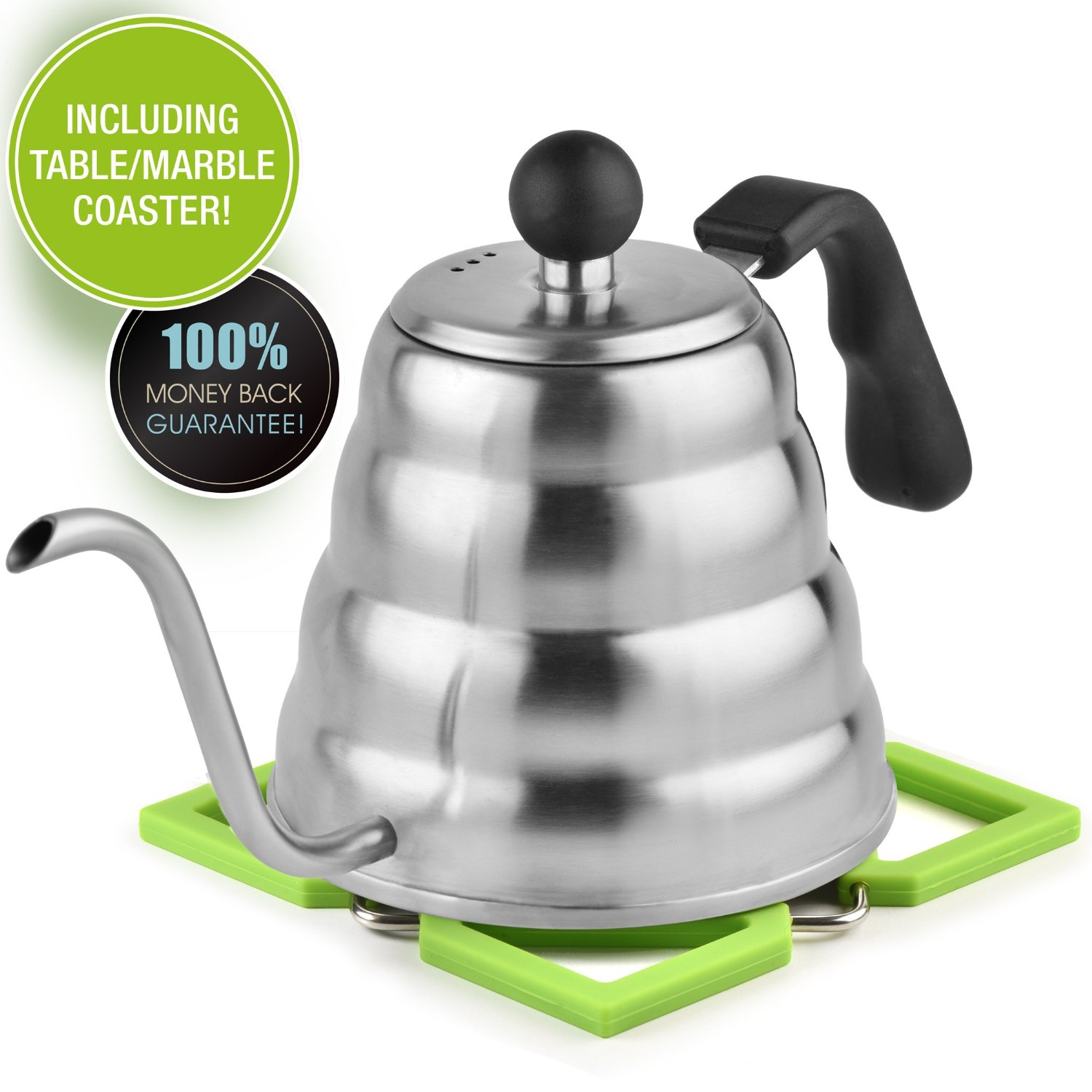 Kettle with silicon coaster