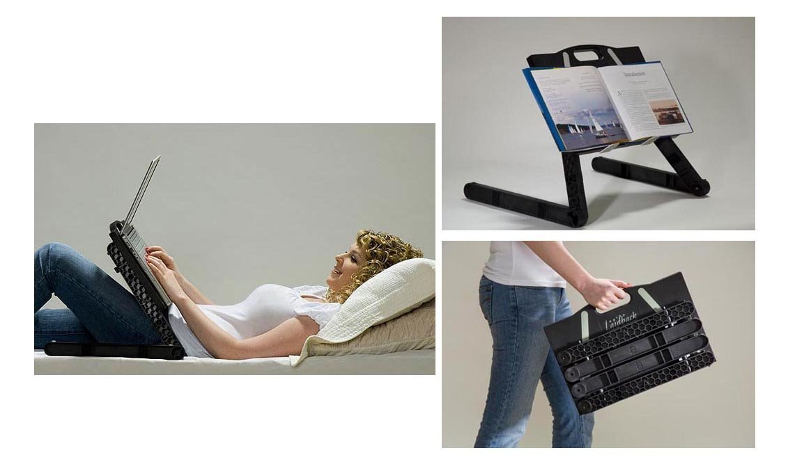 Laptop laid back ergonomic table