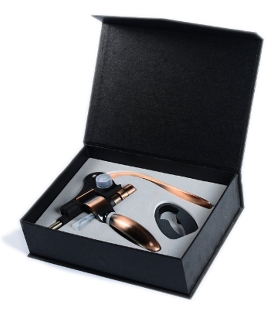 Wine bottle opener and foil cutter gift set