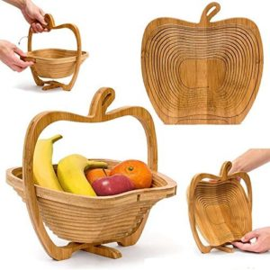 apple-shaped fruit basket