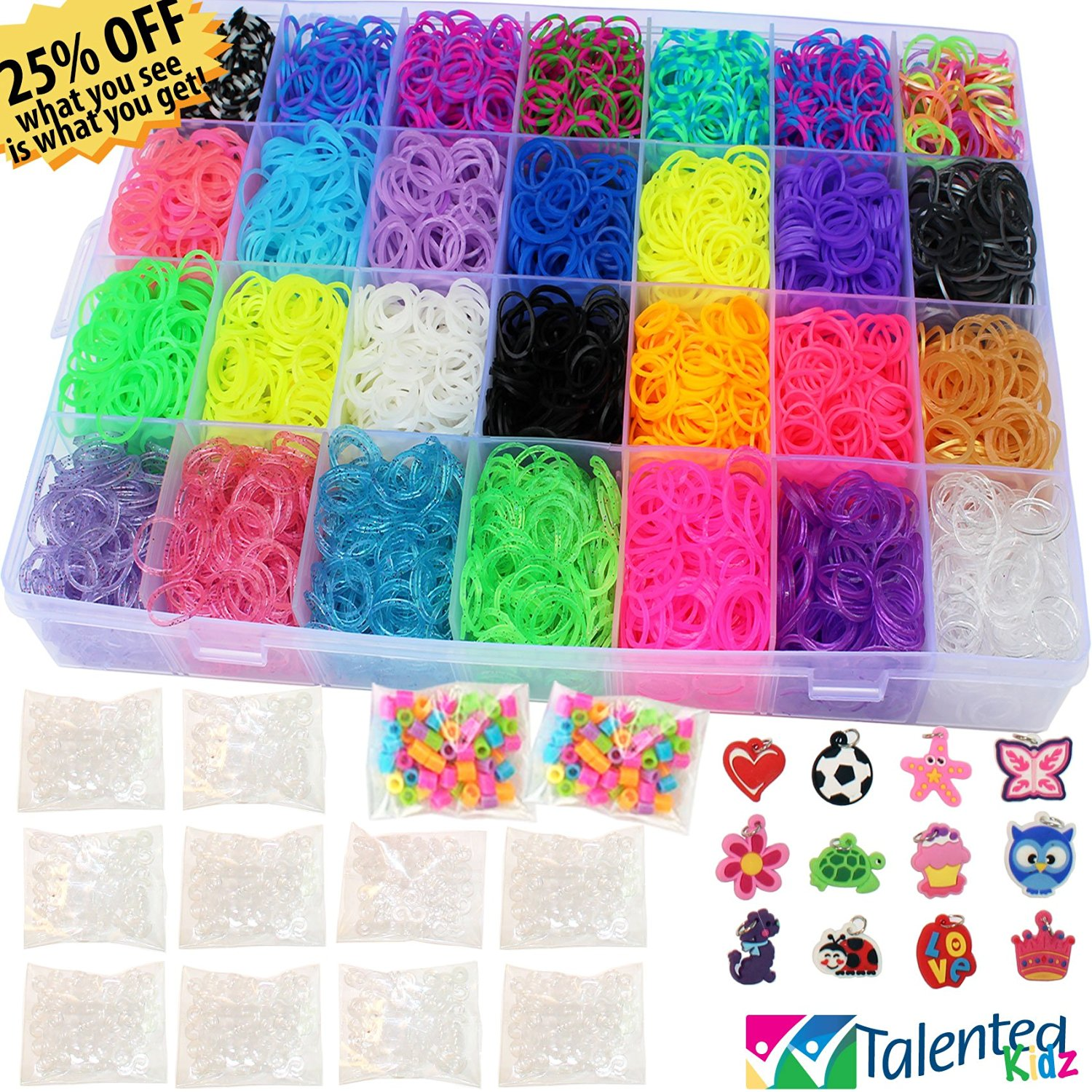 craft rainbow kit loom making itm rubber bracelet colourful diy colorful bands childrens