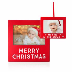 Holiday Baby's First Christmas Frame